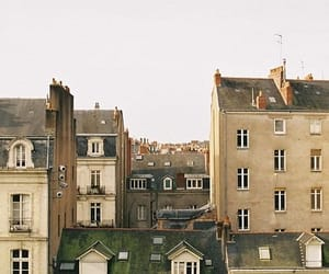 city, house, and vintage image