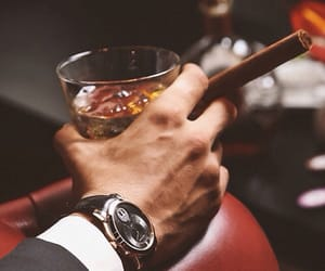 man, style, and whiskey image