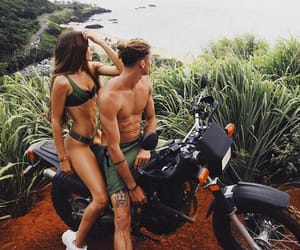 couples, green, and motorcycle image