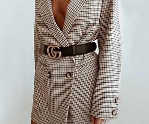 belt, blazer, and gucci image