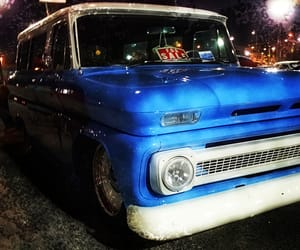 blue, chevrolet, and trucks image