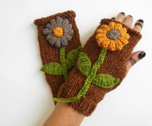 arm warmers, gift for girlfriend, and knit gloves image