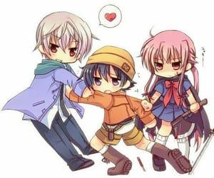 anime, anime girl, and mirai nikki image