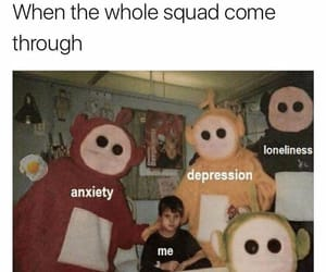 depression, funny, and meme image