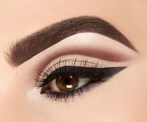 brown eyes, make up, and black liner image