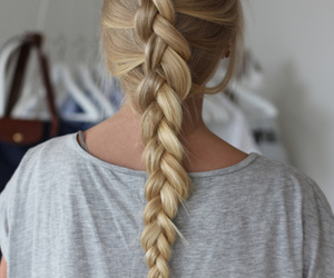 braid, girl, and french image