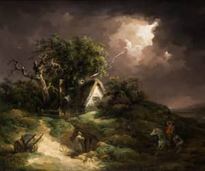 art, painting, and thunder image