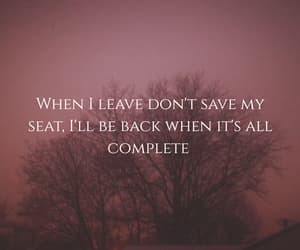 gone, leave, and Lyrics image