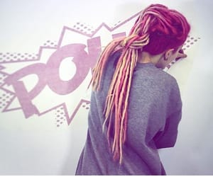 dreadlocks, dreads, and shaved hair image