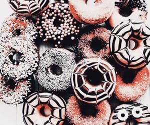 autumn, dessert, and donuts image