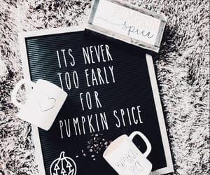 autumn, mug, and chalk image
