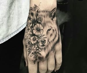 flower, hand tattoo, and tattoo image