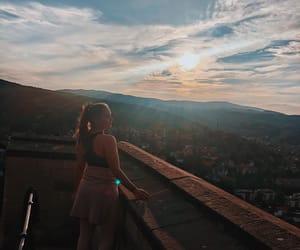 castle, fall, and sunrise image