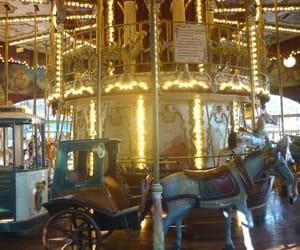 pferd, kutsche, and lichter image