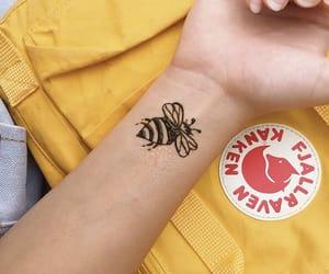 bee, yellow, and kanken image