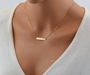 bar, etsy, and name necklace image