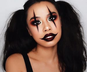 makeup, Halloween, and clown image
