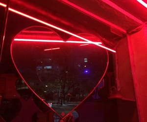 aesthetic, heart, and red image