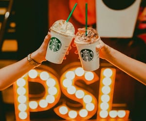 frappuccino, pumpkin spice latte, and psl image