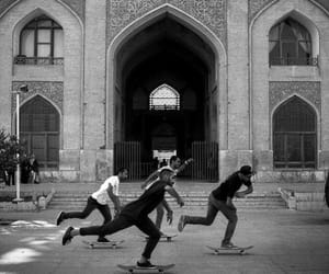 black and white, skateboarding, and bestfriends image