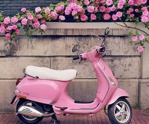 flowers, girly, and motorbike image