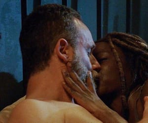 premiere, rick, and michonne image