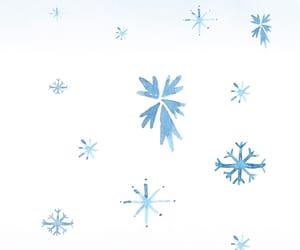 snow, snowflake, and lock image