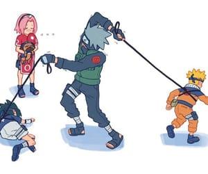 team 7, uzumaki naruto, and uchiha sasuke image