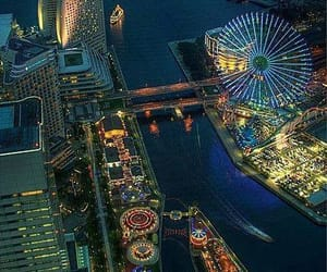 japan, night, and Yokohama image