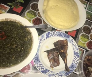 congolese food, fufu, and pondu image