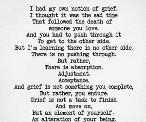 grief, loss, and quotes image
