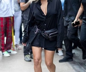 fashion, fanny pack, and heels image