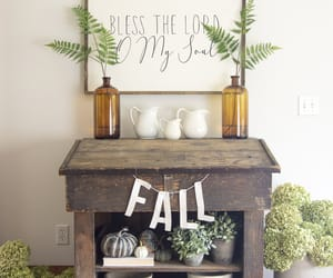 hydrangeas, fall decor, and living room image