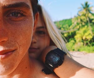 couple, summer, and friendship image