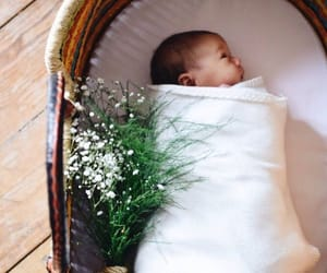 baby, bassinet, and family image