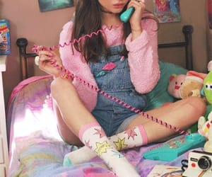 girl, 90s, and pink image