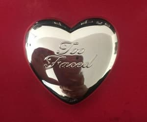 red, aesthetic, and too faced image