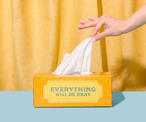 tissues, words, and yellow image