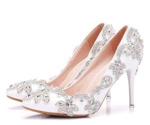 rhinestone, stiletto heels, and pointed toe image
