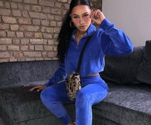 blue, style, and tracksuit image