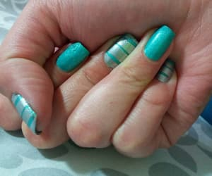 aqua, gray, and uñas image