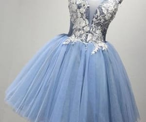 blue homecoming dress, appliques prom dresses, and short homecoming dres image