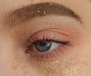 eyes, glitter, and aesthetic image