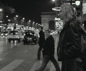 b&w, girl, and paris image