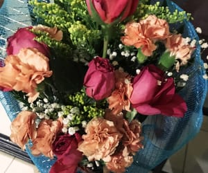 bouquet, roses, and clavel image