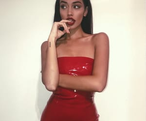 cindy kimberly, red, and model image