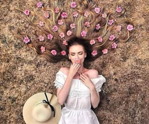 creative, flowers, and girls image