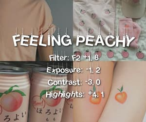editing, peachy, and photography image