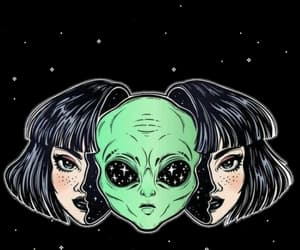 alien, space, and stars image