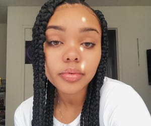 braids, hair, and pretty image